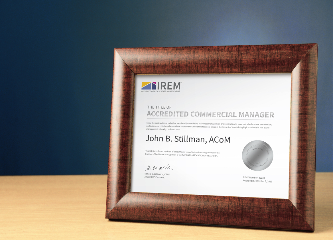 Accredited Commercial Manager certificate