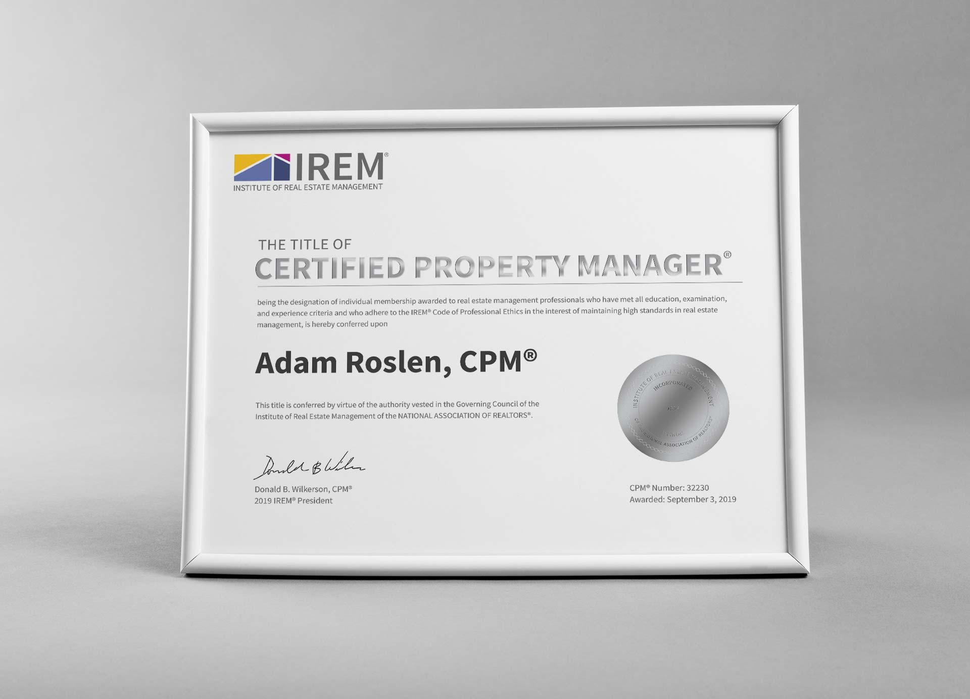 Certified Property Manager membership