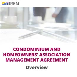 Sample Condominium and Homeowners Association Management Agreement